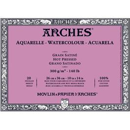Arches Aquarelle Water Colour Blocks Hot Pressed 140lbs / 300gsm  thumbnail