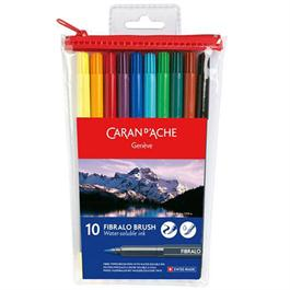 Caran d' Ache Fibralo Brush set of 10 assorted thumbnail