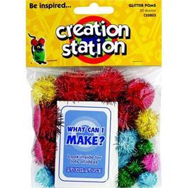 Creation Station Glitter Poms thumbnail