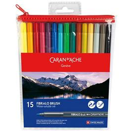 Caran d' Ache Fibralo Brush Pen 15 assorted thumbnail