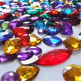 Acrylic Gemstones, Assorted  (Approx 400) Thumbnail Image 1