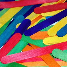 Value Pack of Jumbo Lollipop Sticks Coloured thumbnail
