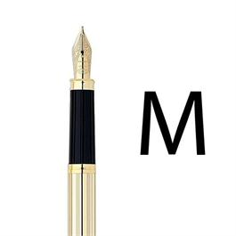 Century II 10 Carat Rolled Gold Fountain Pen With MEDIUM Nib thumbnail