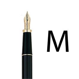 Townsend Black Lacquer/23CT Gold Plated Fountain Pen With MEDIUM Nib thumbnail