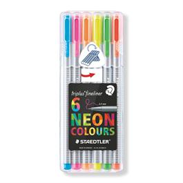 Staedtler Triplus Fineliner Neon Set of 6 thumbnail