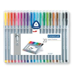 Staedtler Triplus Fineliner Box Of 20 Pens thumbnail