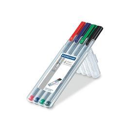 Staedtler Triplus Fineliner Box Of 4 Pens