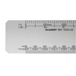 Academy Flat Scale Rule 1:1, 1:100, 1:20, 1:200, 1:5, 1:50, 1:1250, 1:2500 thumbnail