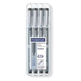 Staedtler Pigment Liner Wallet of 4 pens 0.1, 0.3, 0.5, 0.7 thumbnail