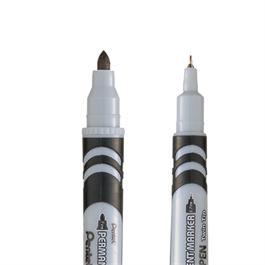 Pentel Permanent Twin Tipped Marker Black