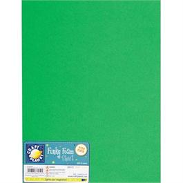 "Funky Foam Sheet 9x12"" Green thumbnail"