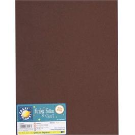"Funky Foam Sheet 9x12"" Brown thumbnail"