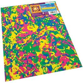 "Funky Foam Sheet 9x12"" Multi-coloured Swirls thumbnail"