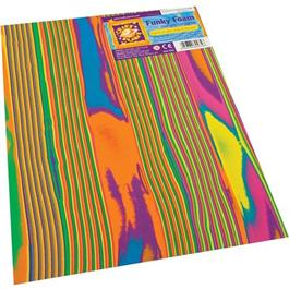 "Funky Foam Sheet 9x12"" Multi-coloured Stripes thumbnail"
