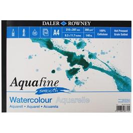 Daler Rowney Aquafine Watercolour Pad Hot Pressed 300gsm thumbnail
