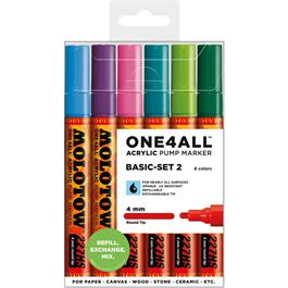 Molotow ONE4ALL 227HS Paint Pen Basic Set 2 - 12 x 4mm Round Nib Pens thumbnail