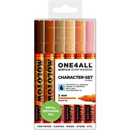 Molotow ONE4ALL 127HS Paint Pen Character Set - 6 x 2mm Round Nib Pens thumbnail