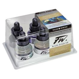 Daler Rowney FW Ink Shimmering Colours 6 Set thumbnail