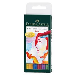 Pitt Artists' Brush Pen Wallet - Basic Colours thumbnail