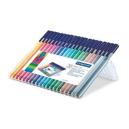 Staedtler Triplus Colour Pens - Desktop Box Of 20 Colours
