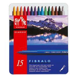 Caran D'ache Fibralo Watersoluble Pens - Tin Of 15 thumbnail