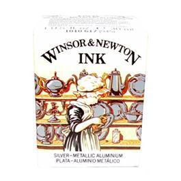 Winsor & Newton Drawing Ink 30ml Silver Thumbnail Image 1