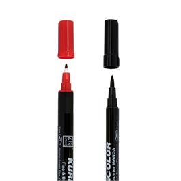 Kurecolor Fine & Brush Twin Tipped Pens