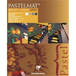 Clairefontaine Pastelmat Pad - White, Sienna, Brown, Anthracite Thumbnail Image 0
