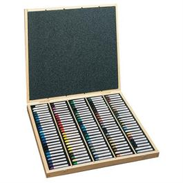 Sennelier Oil Pastels Wooden Box of 120 Assorted Colours thumbnail