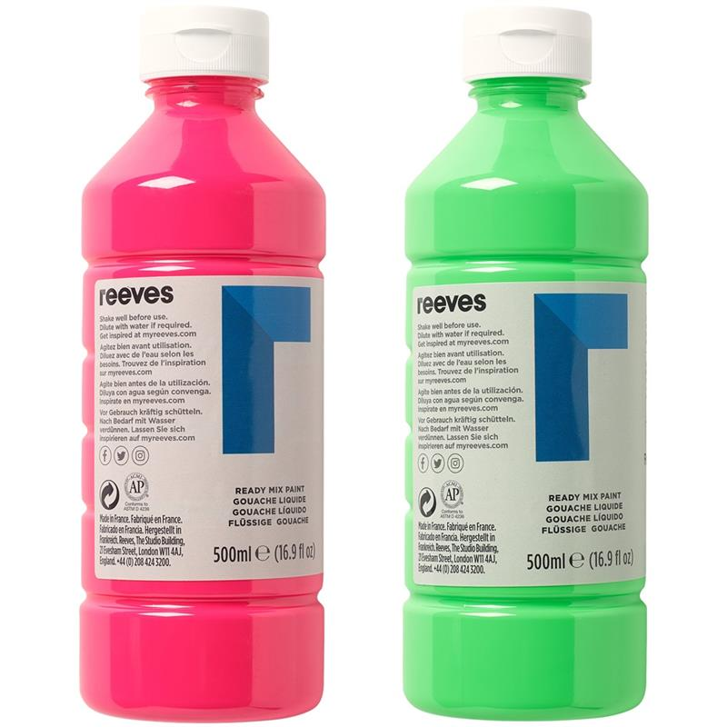 a36710b0786 ... Reeves Readymix Paint 500ml Thumbnail Image 2