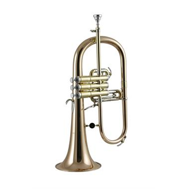 Courtois 'Reference' 159R-1 flugelhorn (lacquer) gold brass bell thumbnail