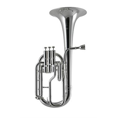 Besson Sovereign BE950-2 tenor horn (silver) thumbnail