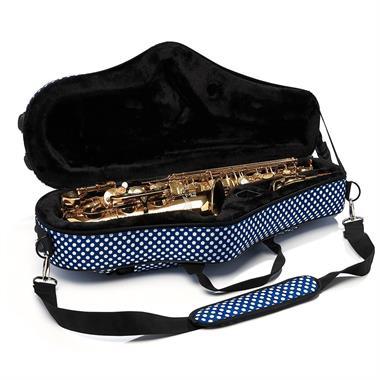 Beaumont alto sax case (blue polka dot) thumbnail