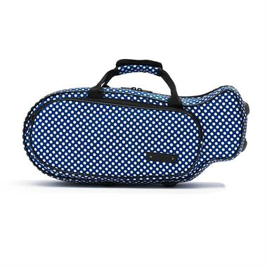 Beaumont trumpet case (blue polka dot) thumbnail