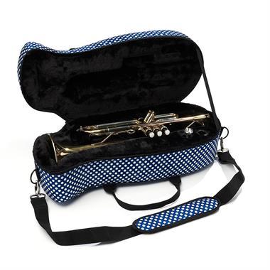 Beaumont trumpet case (blue polka dot) thumbnail