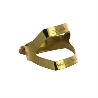 Selmer alto sax ligature (gold lacquer) thumbnail