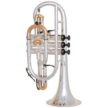 Geneva Cardinal B-flat cornet (silver) thumbnail