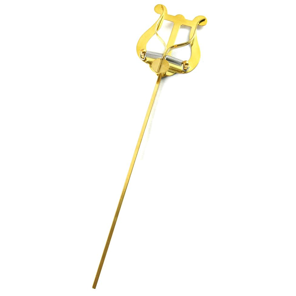 Lyre - small, 2 levers (brass) 25cm Image 1