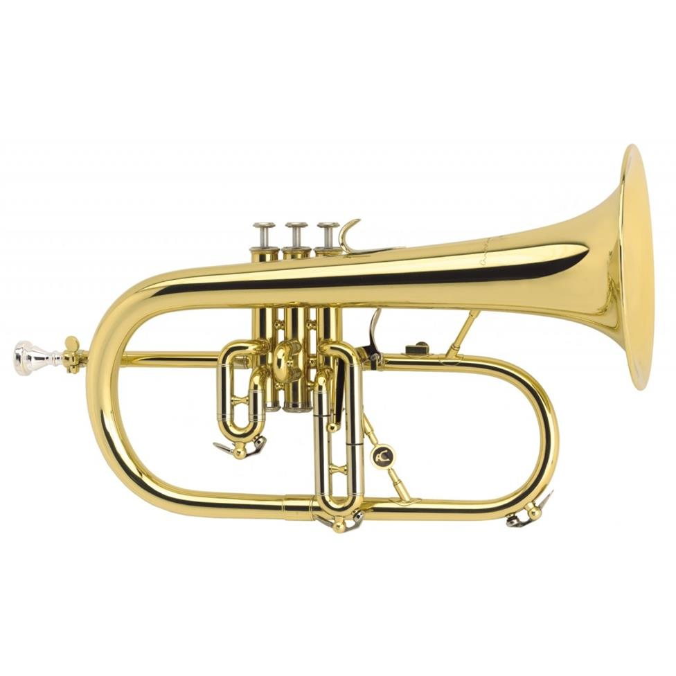 Courtois 154-8 flugelhorn (gold lacquer) Image 1