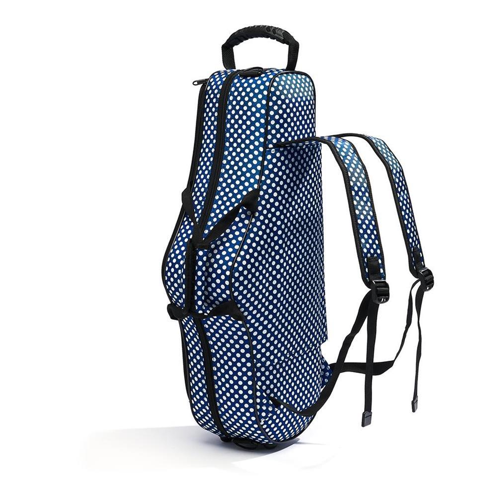 Beaumont alto sax case (blue polka dot)