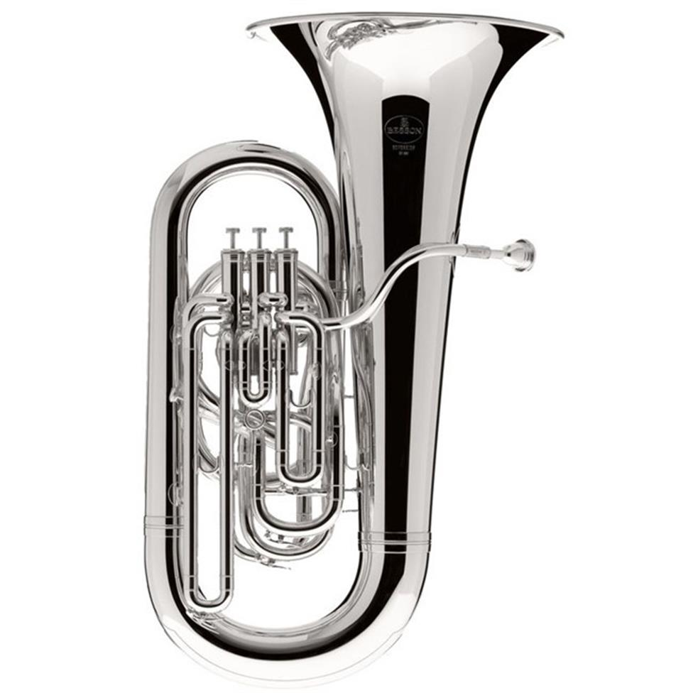 Besson Sovereign BE982 E-flat tuba (silver) Image 1