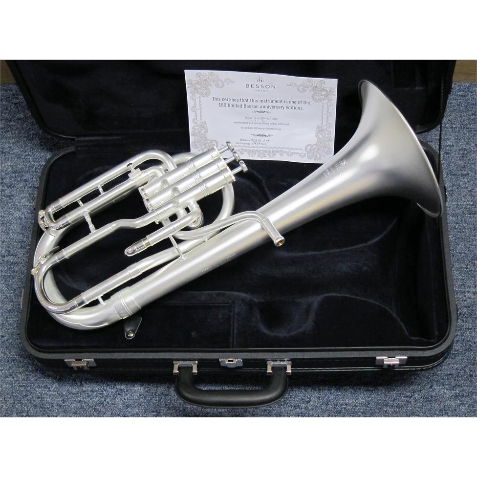DEMO Besson Sovereign Anniversary BE950-2M tenor horn (satin silver) Thumbnail Image 0