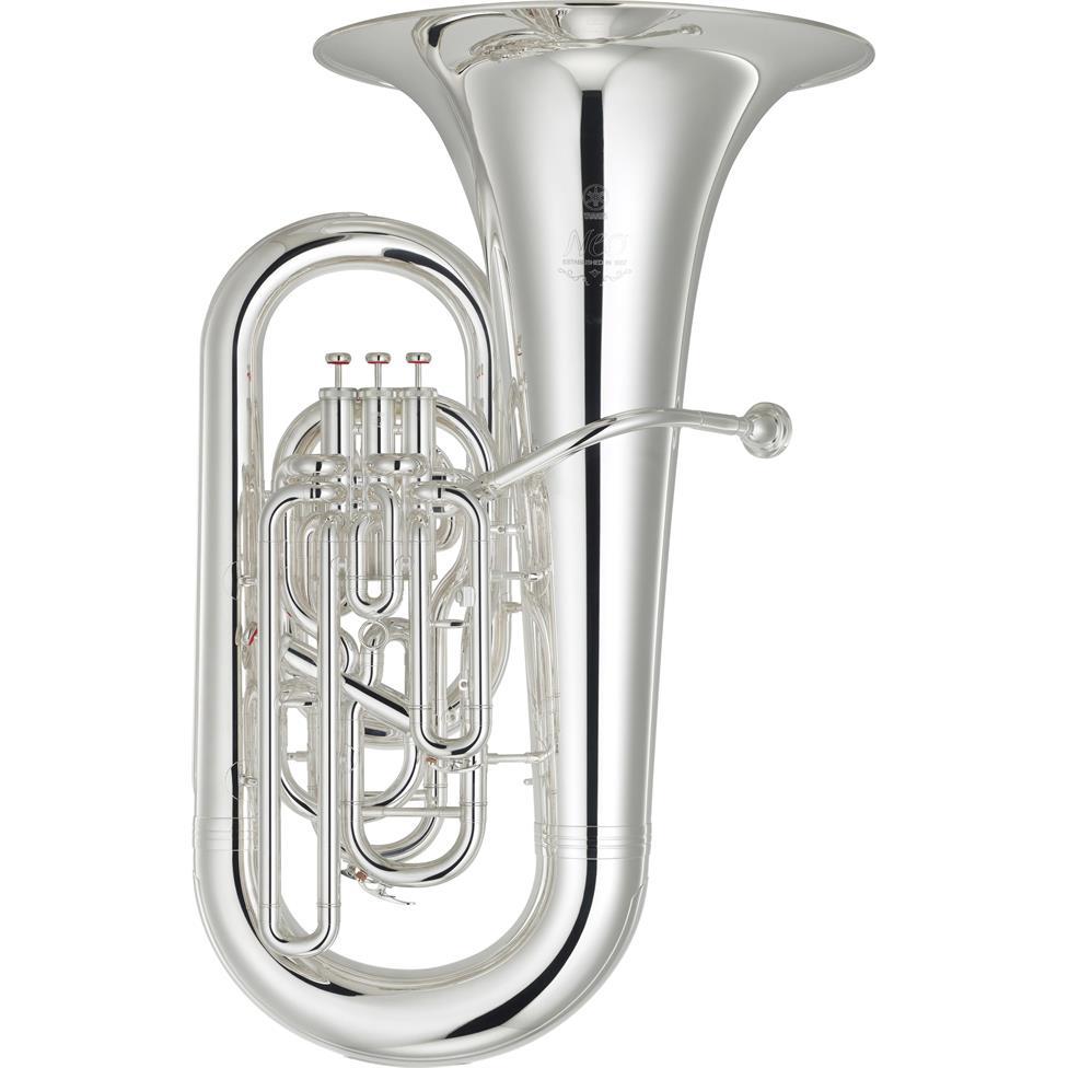 Yamaha Neo YEB-632S EE-flat tuba (silver) Image 1