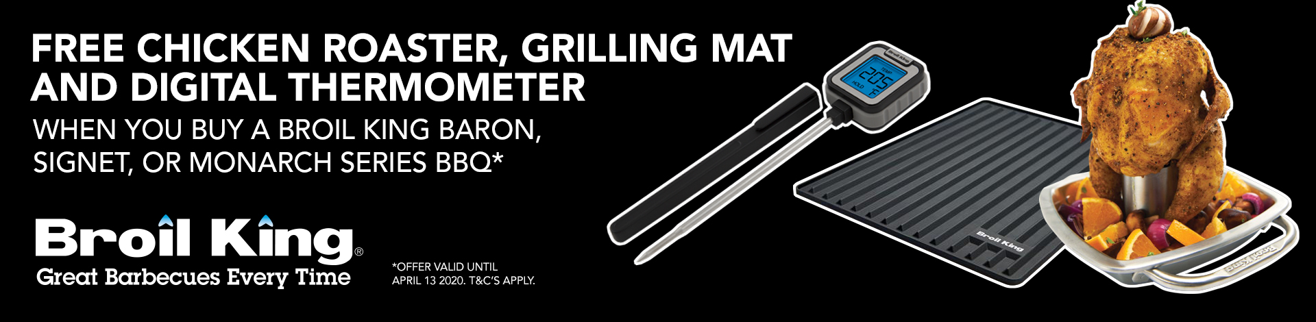Broil King Free roaster, mat, digital thermo
