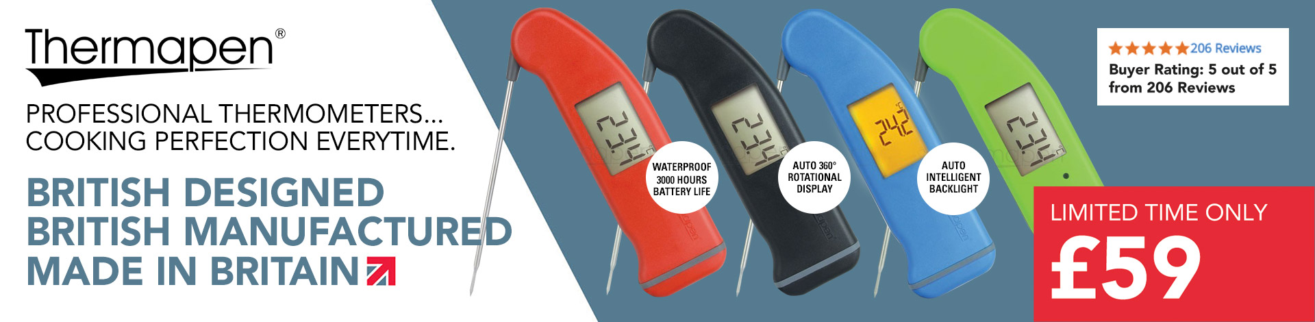 Thermapen thermometers banner