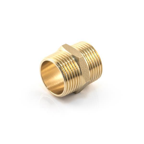 1/2 BSP Brass Nipple Image 1