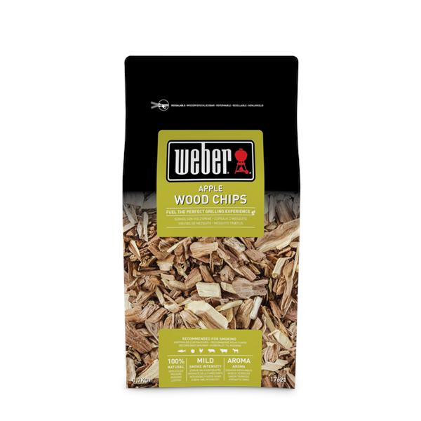 Weber Apple Wood Chips - 0.7kg Image 1