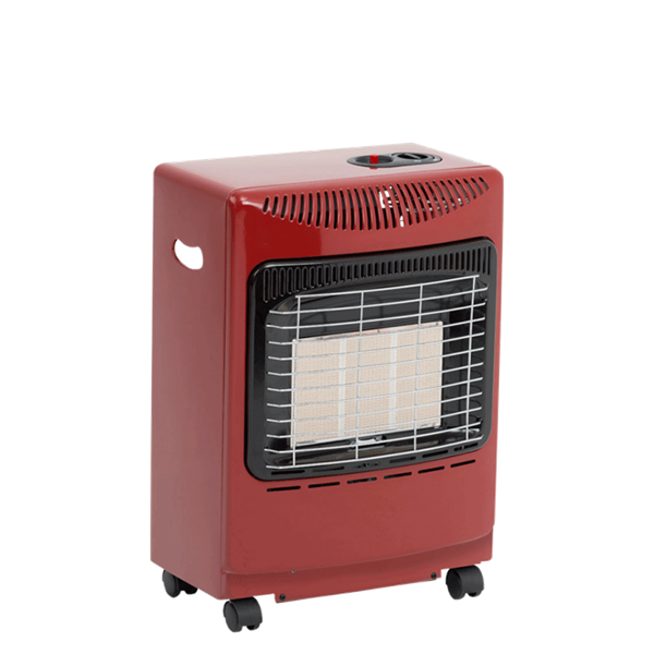 Lifestyle Red Mini Heatforce 4.2kw Radiant Portable Gas Heater Image 1