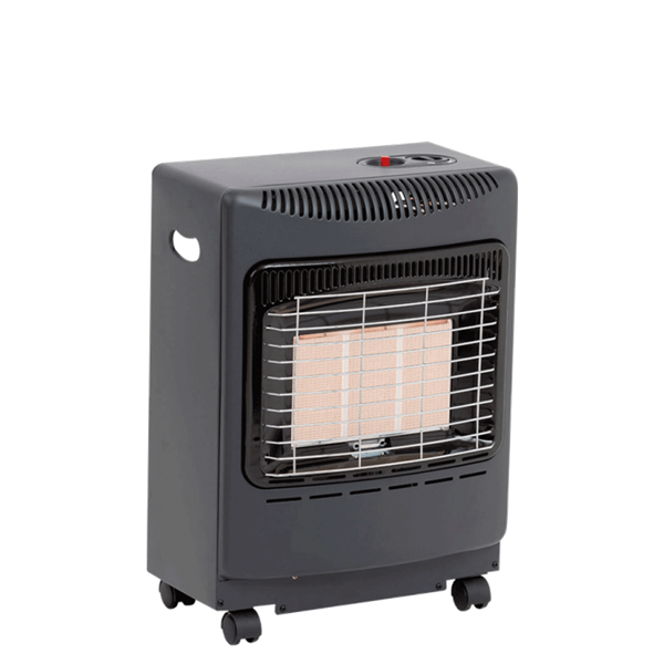 Lifestyle Black Mini Heatforce 4.2kw Radiant Portable Gas Heater Image 1