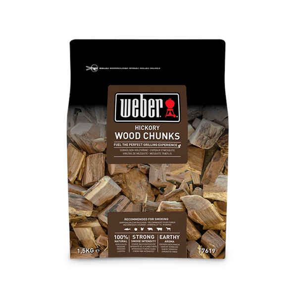 Weber Hickory Wood Chunks - 1.5kg Image 1